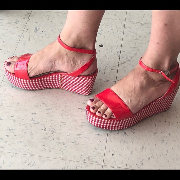d074cb357d55 Cutest summer gingham sandals Torrid size 9 🍎. M 5b174e448ad2f9db6f4f38cd